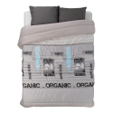 Couette Mila gris/Uni bourgogne packaging